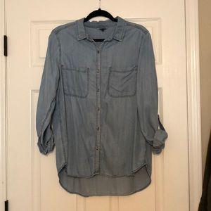 Jean long sleeved blouse